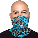 Debrief Me Anti slip WELDED EDGE Lightweight Breathable Neck Gaiter Mask for Face Protection from Sun Dust, Germ -Neck Balaclava Face Bandana Sport Scarf for Hiking Running Fishing (Black)