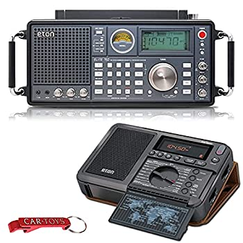 Eton Elite 750 NELITE750 Classic AM/FM/LW/VHF/Shortwave SSB Radio and Elite Traveler AM/FM/LW/Shortwave Compact Travel Radio with Carry Case Bundle