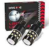 BRISHINE Super Bright 7443 7440 7444 7441 W21W T20 LED Bulbs Xenon White 24-SMD LED Chipsets with Projector for Backup Reverse Lights, Brake Tail Lights, Parking/Daytime Running Lights(Pack of 2)
