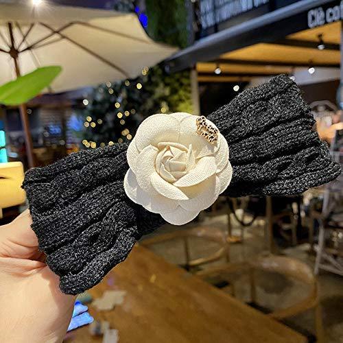Turbantes Headband Diademas para Mujer Turbantes Moda Invierno Cálido Oreja Tejida Diadema Turbante Mujeres Crochet Flor