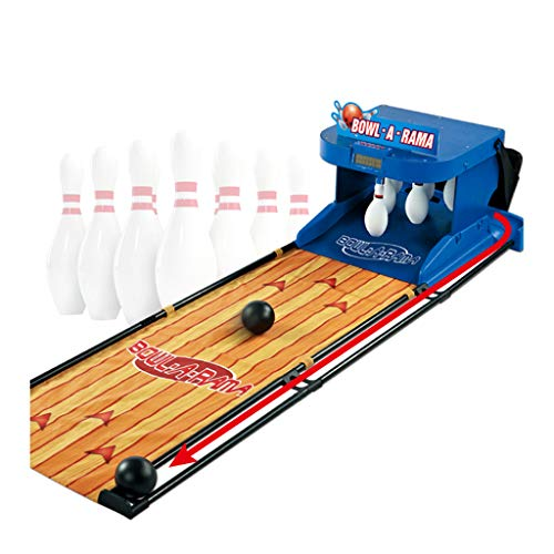 SOHOH Elektronisches Bowlingbahn-Spiel Für Kinder, Familien-Bowlingspiel Indoor-Sport Interaktiver Spielzeugball Für Eltern Und Kind Brett-Torschütze Soundeffekte LED-Lichter Füße Zusammenklappbar