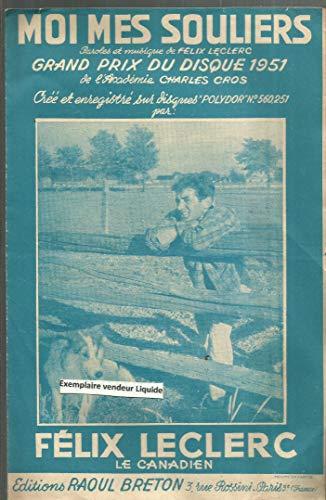 MOI MES SOULIERS grand prix du disque 1951 de l\'académie Charles Cros