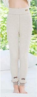 MAZS Leggings para niñas para Invierno Pantalones Largos Gruesos y cálidos de Punto Pantalones para niños Leggings Pantalo...