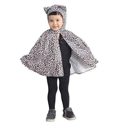 AN81 taille 72-96 Leopard Cape Cape costume de léopard pour les enfants garçons costume costume de carnaval costumes de carnaval