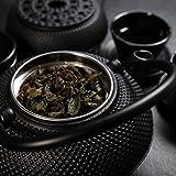 Lumaland Tee Set 12-teilig – 1,4 Liter Gusseiserne Teekanne, Stövchen, Dosierlöffel, Sieb, 4 Teebecher und 4 Untersetzer - 5