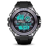 TCEPFS Outdoor Sports Digitaluhr Herren Dual Display Elektronische Uhren Wasserdicht TPU Strap Montre Homme -