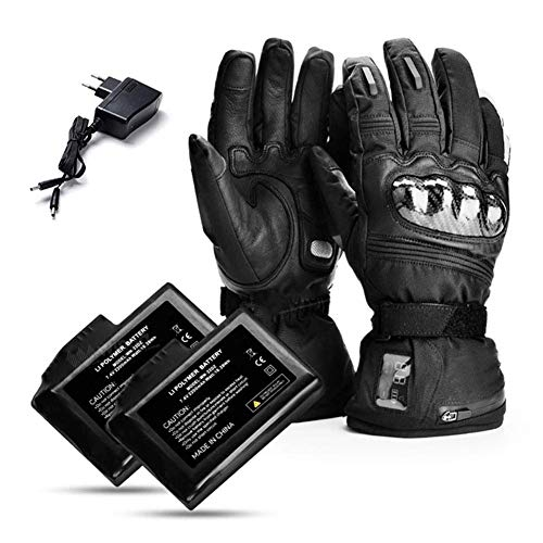 QMJHHW Heated Gloves 7.4V 2200mAh,Electric Rechargeable Battery Heated Gloves, LED Temperature Display for Snow Skiing Ice Skating Riding Motorcycle Fishing Hunting