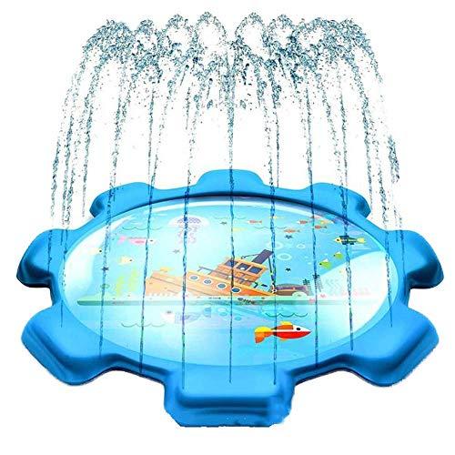 AJH 68inch Splash Sprinkler Pad para niños Piscina para bebés Juguetes de Agua inflables Piscina para 4-6 años Niños pequeños Bebés Niños Niños