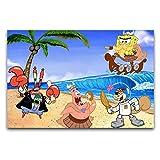 Póster de Bob Esponja con Amigos en lienzo y arte de pared, diseño de Bob Esponja