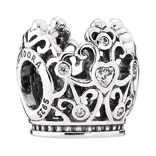 Pandora Sterling Silver Disney Princess Crown Charm 791580CZ