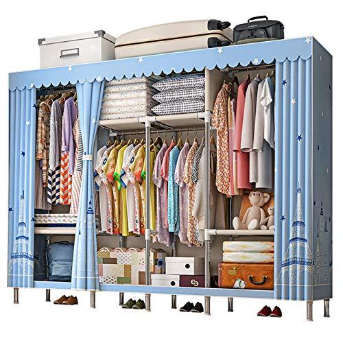 KDOAE Almacenamiento de Armario Guardarropa almacenaje Closet Ropa portátil armarios guardarropa Armario Organizador Estante Vestuario Ropa Muebles de Dormitorio (Color : D3, Size : 245x45x172cm)