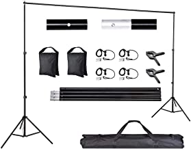 AW Backdrop Stand Kit 7 x 10ft Adjustable Background Support System Stand Kit Carry Bag for Live Stream Party Event
