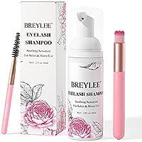 BREYLEE Eyelash Extension Shampoo Eyelash Extension Foam & Brushes Eyelid Cleanser