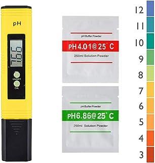 Beauneo 2 Pcs Num/éRique 0.0-14.0 PH M/èTre Testeur 0-9990Ppm Num/éRique TDS EC LCD Puret/é de LEau PPM Filtre DAquarium