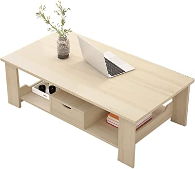 Modern Coffee Table Set, Wooden Coffee Table with Faux Marble Wood Top Frame   Modern Coffee Table for Living Room, Office, Balcony,White