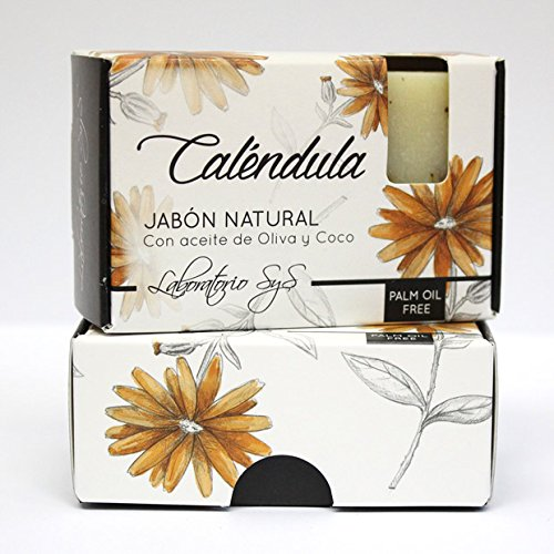 Laboratorio SyS Jabón Natural Premium Caléndula - 6 Paquetes de 1 x 100 gr - Total: 600 gr