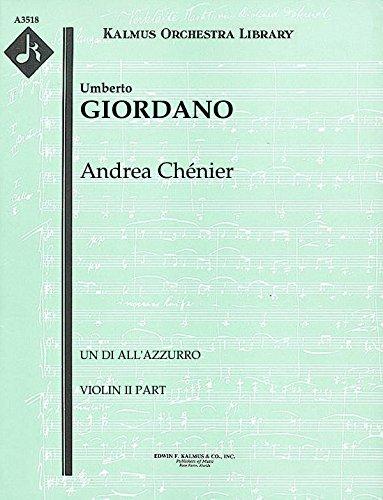 Andrea Chénier (Un di all'azzurro): Violin II part (Qty 4) [A3518]