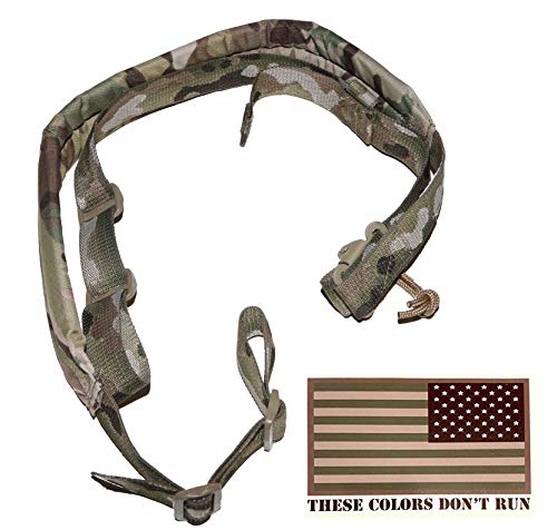 Viking Tactics Original Padded 2 Point Sling & American Flag Decal (Multicam)