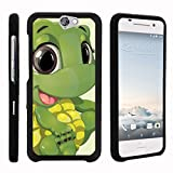 Compatible with HTC One A9 Case   HTC Aero Case [Slim Duo] Hard Shell Snap On Case Compact Fitted Cover Matte Finish on Black Sea Ocean by TurtleArmor - Baby Turtle