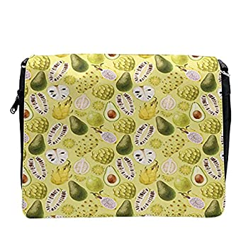 Ambesonne Exotic Cross Body Messenger Bag Avocados Dragon Fruit Guava Unisex