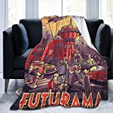 NEDRODAPPHIRE Futurama Plush Flannel Blanket, Lightweight Cozy Throw Blanket Warm Soft Blankets Suit for Bed Sofa and Couch 60x50 inch