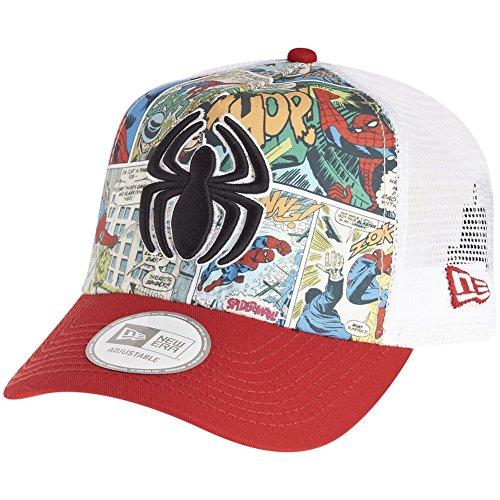 New Era and Marvel Comics Trucker Curve Cap ~ Spiderman