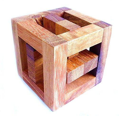 Logica Jeux Art. Chasse Royale - Casse-tête 3D en Bois précieux - Difficultè 5/6 Incroyable - Collection Leonardo da Vinci