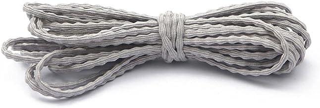 3mm 5 M/partij 6 Kleuren Nylon Elastisch Touw Koord String Riem Voor Handgemaakte DIY Naaien Accessoires Benodigdheden-Grijs: