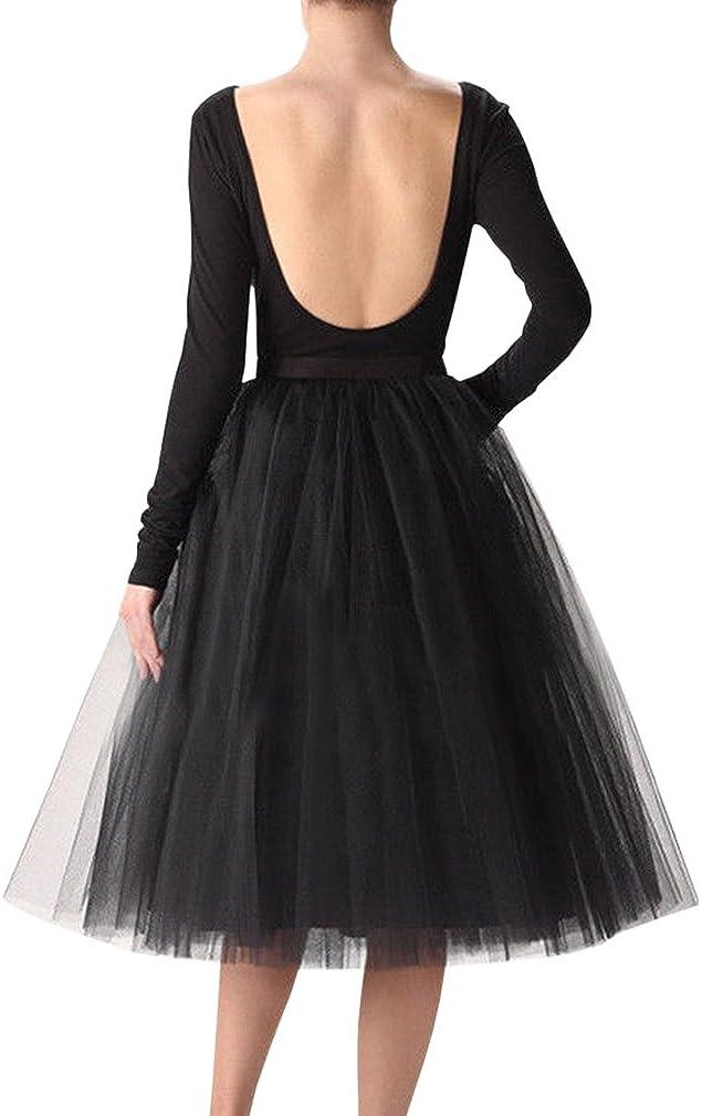 Wedding Planning Women's A Line Short Knee Length Tutu Tulle Prom Party Skirt