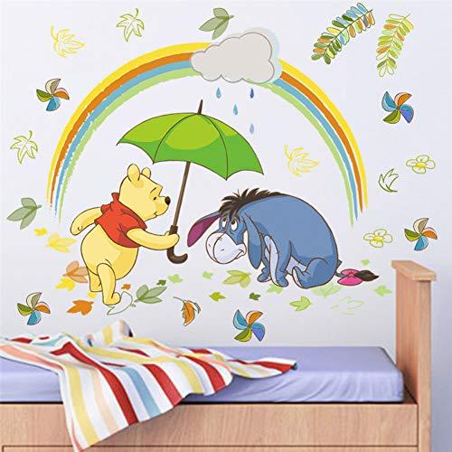 VIOYO Dessin animé Winnie Pooh 40 * 60 cm Stickers muraux Chambre décorations pour la Maison Animaux de Disney Zoo Stickers muraux Bricolage Art Mural DIY Affiches