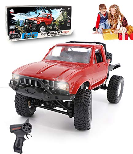 Mobiliarbus WPL RC Car C14 1//16 2.4GHz 4WD RC Crawler Off-Road Semi-Truck Car with Headlight RTR for Kids