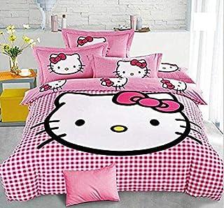 SinghsVillas Decor Cotton 254 TC Bedsheet (King_Pink)