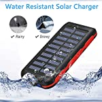 Solar Power Bank Portable Phone Charger 25000mAh【2020 Newest Solar Charger】Battery Pack Water-Resistant 3 Output Ports… 6