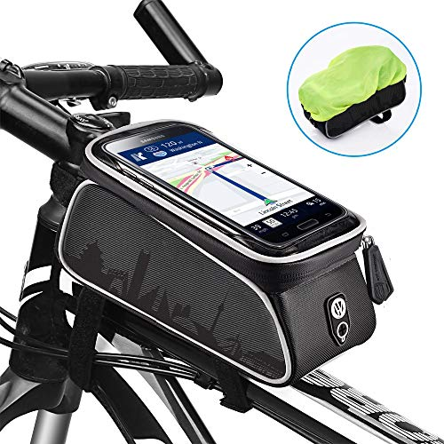 Why Choose uniwood Bike Front Frame Bags Waterproof, Bicycle Handlebar Bag, Top Tube Mount Handlebar...