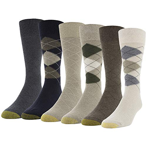6-Pairs Gold Toe Men's Campbell Crew Socks (Oatmeal/Taupe) $7.93 + Free Shipping w/ Prime or on $25+
