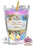 10 Disney Princess Capri Sun Juice Pouch Stickers Labels Party Favors Rapunzel Pocahontas Mulan Snow White Ariel Jasmine Belle