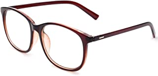 Jcerki Oversize Frame Nearsighted Glasses-0.50 Strength Short Sighted Men and Women Lightweight Myopia Spectacles **These are not Reading Glasses**