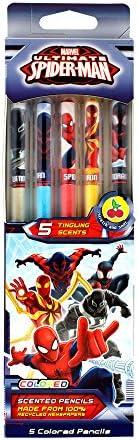 70.SPMN2005 Marvel Spider-Man Smencils 5-Pack of HB #2 Scented Pencils Scentco Inc