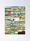 AZSTEEL Hokusai Thirty-six Views of Mt Fuji Poster Poster