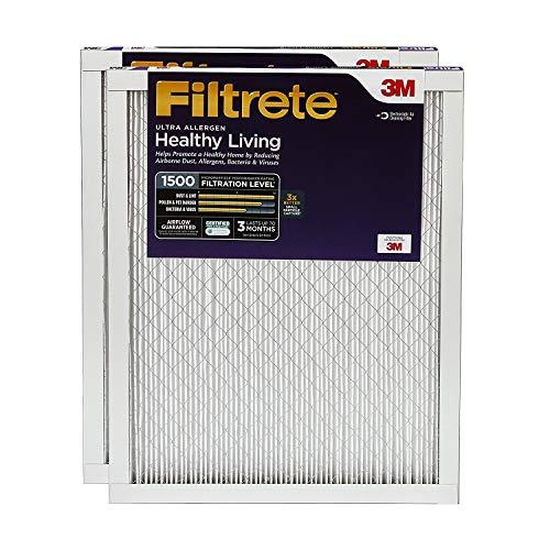 Filtrete 14x30x1, AC Furnace Air Filter, MPR 1500, Healthy Living Ultra Allergen, 2-Pack