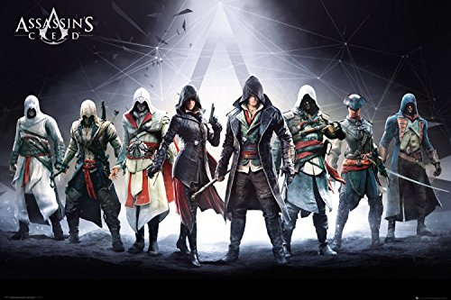 1art1 Assassin's Creed Poster - Desmond Miles, Connor Kenway (36 x 24 inches)