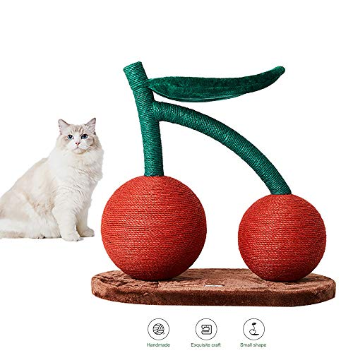 HYDDG Cereza Gato Trepador Nido De Gato Árbol De Gato Uno Multicapa Plataforma Estante Agarrar Tablero Plataforma Felpa Agarrar Villa Cat Juguete Gato Retirable Fácil De Montar