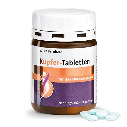Kupfer-Tabletten - 2mg Kupfer/Tablette - 180 Tabletten