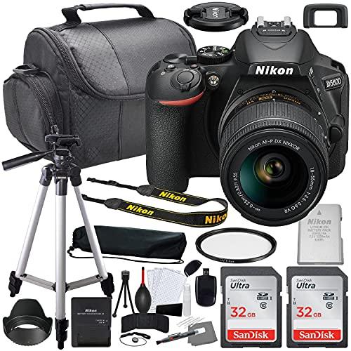 Nikon D5600 DSLR Camera with 18-55mm VR Lens Bundle (1576) + Accessory Kit Including 64GB Memory, UV Filter, Camera Case & More