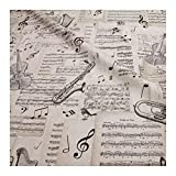 Stoff am Stück Stoff Baumwolle Polyester Geige Trompete