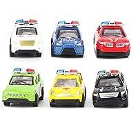 車両玩具、子供用車両玩具、強力な軽量プルバック車両玩具、ギフト用耐久性(F police rescue series)
