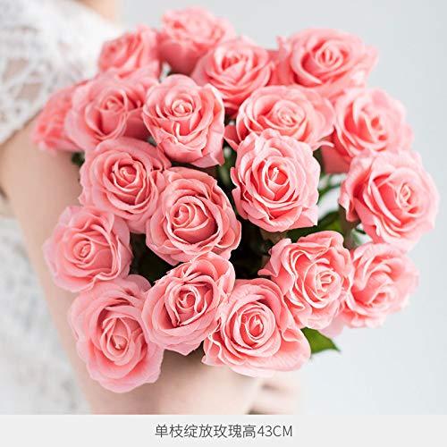 Hand-gevoel vochtinbrengende simulatie roos jurk versierd bloem droge bloem woonkamer eettafel ornamenten decoratieve decoratie simulatie bloem saffraan bloem Bloom 10 sticks licht poeder