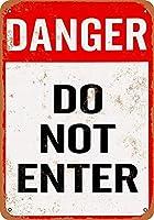 なまけ者雑貨屋 メタルサイン Danger Do Not Enter ヴィンテージ風 ライセンスプレート メタルプレート ブリキ 看板 アンティーク レトロ