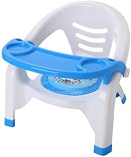 LINANA Children s Chair Baby Dining Chair Back Chair Nursery Chair Plastic Bench Dining Table Stool Cartoon Baby Dining Chair Blue
