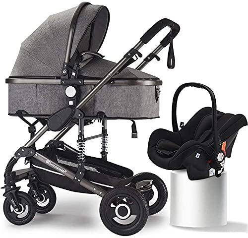 Sitios y cochecitos de bebé, kinderkraft pram 3 en 1 conjunto, sistema de viaje, silla de bebé, buggy, plegable, con asiento de coche infantil, ventilador para bebés, tapa de lluvia, tellfful, titular